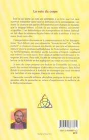 Voix Du Corps - Biohermeneutique - 4ème de couverture - Format classique