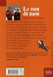 Le voeu du paon - 4ème de couverture - Format classique