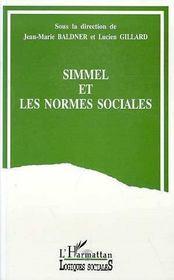 Simmel Et Les Normes Sociales - Intérieur - Format classique