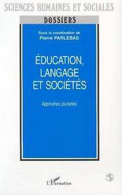Education, Langage Et Societes - Intérieur - Format classique