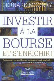 Investir A La Bourse Et S'Enrichir ! 2e Ed. - Intérieur - Format classique