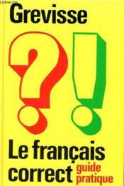 Le Francais Correct - Couverture - Format classique