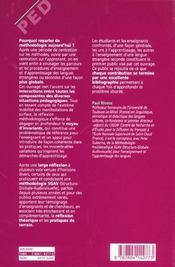 Apprentissage d'une langue étrangère/seconde t.3 ; la méthodologie - 4ème de couverture - Format classique