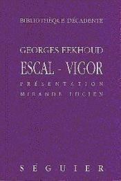 Escal - Vigor - Couverture - Format classique
