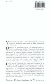 Le malentendu ; généalogie du geste herméneutique - 4ème de couverture - Format classique