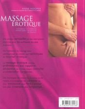 Massage erotique - 4ème de couverture - Format classique