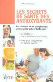 Les secrets de santé des antioxydants - Intérieur - Format classique