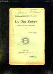 Lo Gai Saber N° 202 Setembre Octobre 1942. - Couverture - Format classique