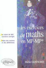 Les Exercices De Maths En Mp-Mp* Un Choix De 662 Exercices Corriges Index Des Notions Et Definitions - Intérieur - Format classique