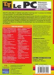 Pc Tdt - 4ème de couverture - Format classique