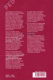 Donner Du Sens Aux Cours De Sciences - 4ème de couverture - Format classique