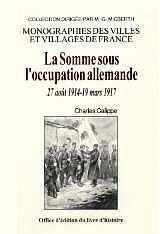 La Somme Sous L'Occupation Allemande - Couverture - Format classique