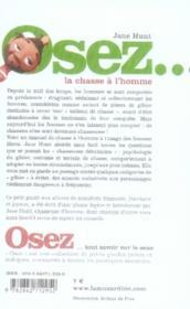 OSEZ ; osez la chasse à l'homme - 4ème de couverture - Format classique