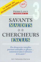 Savants Maudits Chercheurs Exclus T3 - Intérieur - Format classique