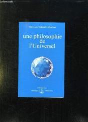 Une philosophie de l'universel - Couverture - Format classique