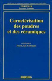 Caracterisation des poudres et des ceramiques - Couverture - Format classique