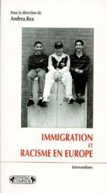 Immigration et racisme en Europe - Couverture - Format classique