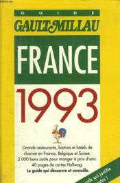 France Gaultmillau 1993 - Couverture - Format classique