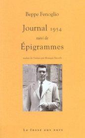 Journal 1954 ; épigrammes - Intérieur - Format classique