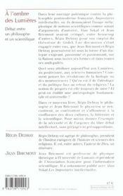 A L'Ombre Des Lumieres - 4ème de couverture - Format classique