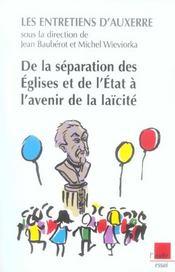 De La Separation Des Eglises Et De L'Etat A L'Avenir De La Laicite - Intérieur - Format classique