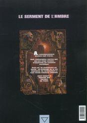 Le serment de l'ambre t.2 ; Portendick - 4ème de couverture - Format classique