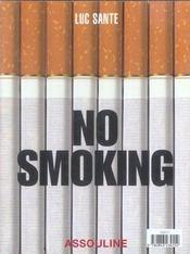 No smoking - 4ème de couverture - Format classique