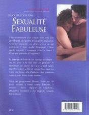 28 Jours Pour Une Sexualite Fabuleuse - 4ème de couverture - Format classique