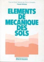 Elements Mecanique Des Sols - Couverture - Format classique