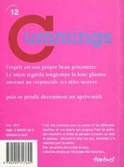 Edward Estlin Cummings - 4ème de couverture - Format classique