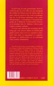 Qi Gong pour chacun ; la santé au quotidien - 4ème de couverture - Format classique