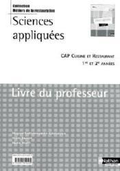 Sciences appliqu es cap cuisine et restaurant livre du for Sciences appliquees cap cuisine