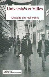 Universités et villes ; annuaire des recherches - Intérieur - Format classique