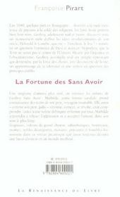 La Fortune Des Sans Avoir - 4ème de couverture - Format classique