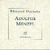 Adolphe Menzel - Couverture - Format classique