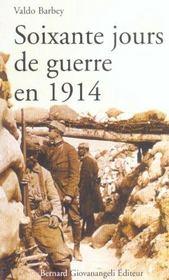 Soixante Jours De Guerre En 1914 - Intérieur - Format classique