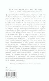 Soixante Jours De Guerre En 1914 - 4ème de couverture - Format classique