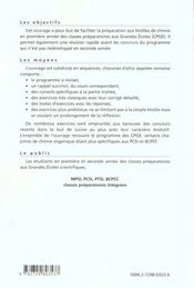 15 Semaines De Kholles En Chimie 1re Annee Prepas Scientifiques Mpsi Pcsi Ptsi Bcpst - 4ème de couverture - Format classique