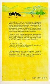 Kariuki, Aventures Avec Le Petit Homme Blanc - 4ème de couverture - Format classique