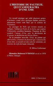 L'Histoire Du Fauteuil Qui S'Amouracha D'Une Ame - 4ème de couverture - Format classique