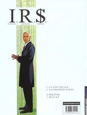 I.R.$ t.2 ; la stratégie Hagen - 4ème de couverture - Format classique