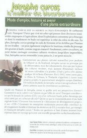Jatropha curcas, le carburant du futur ? mode d'emploi d'une plante fascinante - 4ème de couverture - Format classique