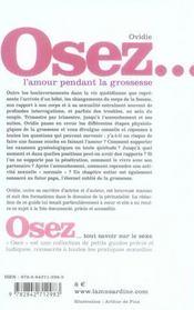 Osez ; L'Amour Pendant La Grossesse - 4ème de couverture - Format classique