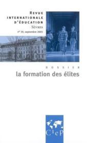 La formation des élites - Couverture - Format classique
