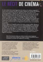Recit De Cinema (Le) - 4ème de couverture - Format classique