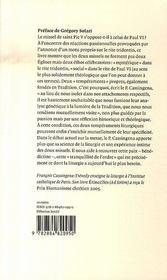 Te igitur - 4ème de couverture - Format classique