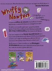 Whiffy Newton ; l'enquête sur les fantômes diaboliques - 4ème de couverture - Format classique
