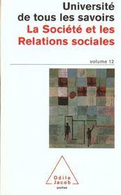 La Societe Et Les Relations Sociales - Intérieur - Format classique