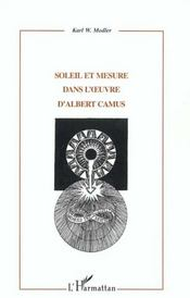 Soleil Et Mesure Dans L'Oeuvre D'Albert Camus - Intérieur - Format classique