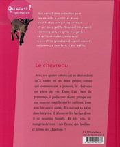 Le chevreau - 4ème de couverture - Format classique